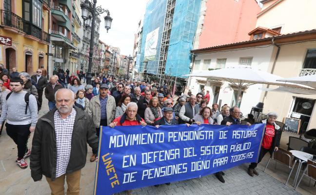 Concurrida manifestación por las pensiones