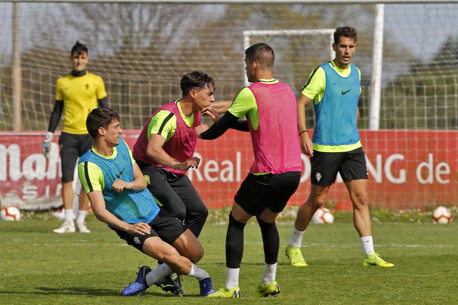 Entrenamiento del Sporting (12/03/19)