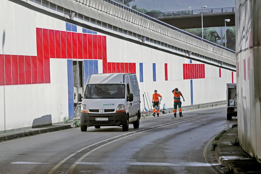 Un accidente en el túnel de El Llano provoca atascos kilométricos