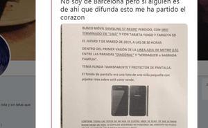 Un hombre pierde su móvil y conmueve a las redes: «Del disgusto solo quiero llorar»