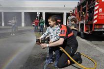 El parque de bomberos de Gijón, abierto para todos