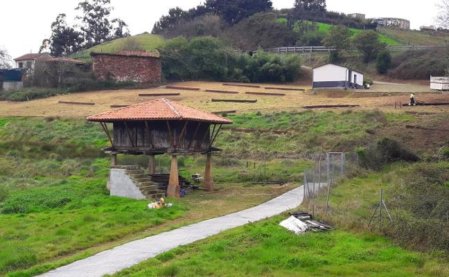 Acondicionamiento de las parcelas para huertos urbanos en Candás
