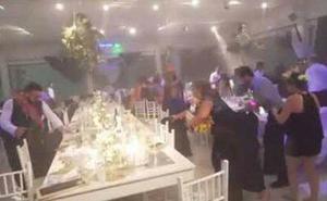 El invitado no deseado a una boda: un huracán