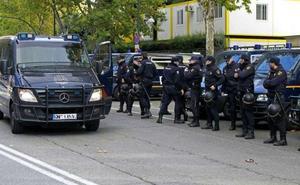300 antidisturbios para blindar la protesta soberanista en Madrid