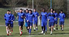 Entrenamiento del Real Oviedo (16/03/19)