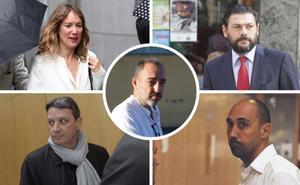 Los cinco acusados en el 'Caso Niemeyer'