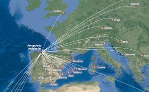 Veinticinco destinos aéreos desde Asturias para este verano