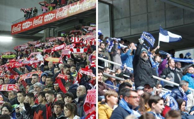 Sporting - Real Oviedo | Los aficionados vibran antes del derbi