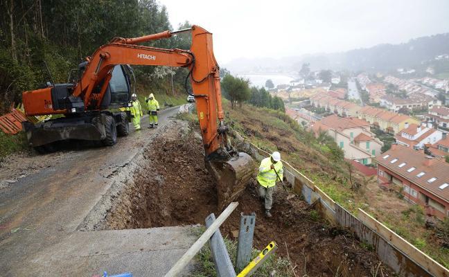 Comienzan las obras de la riosellana carretera del Faro, que reabrirá en mayo