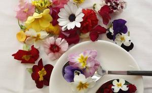 La primavera florece en el plato