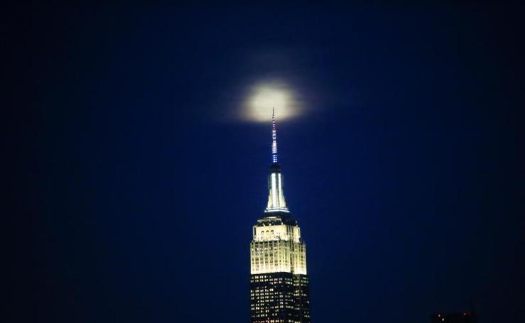 Así se vio en el mundo la superluna de marzo