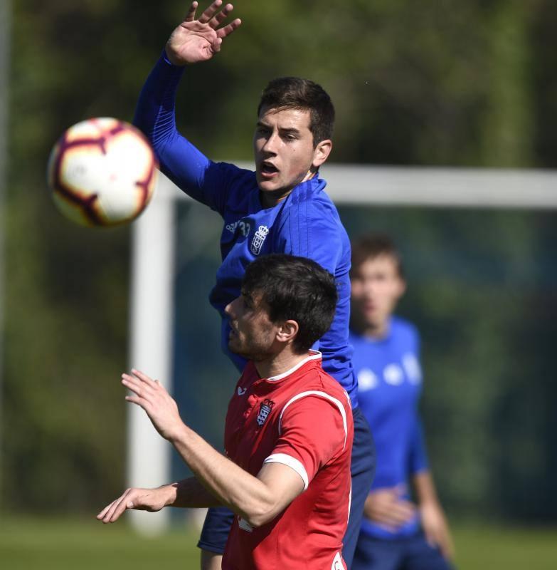 Entrenamiento del Real Oviedo (21/03/2019)