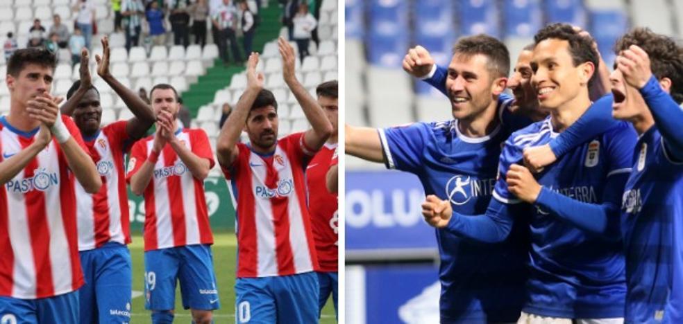 Los lectores eligen las alineaciones del Sporting y Real Oviedo para el derbi asturiano