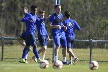 Entrenamiento del Real Oviedo (22/03/2019)