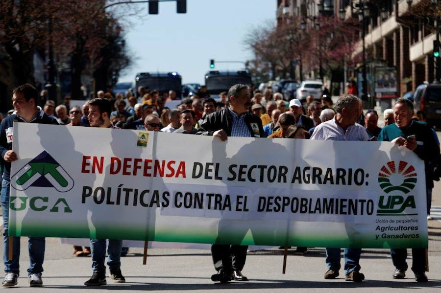 Los ganaderos asturianos se hacen oír en Oviedo