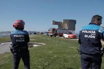 Así fue el rescate de la joven que se precipitó desde el Cerro en Gijón