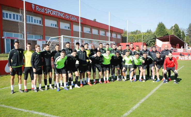 Entrenamiento del Sporting (23-3-19)