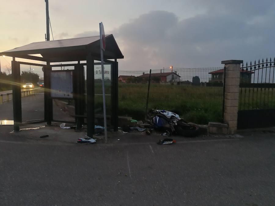 Herido grave un motorista tras sufrir un accidente en El Infanzón