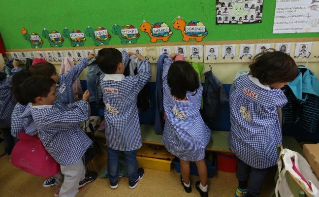 La baja natalidad lleva a una pérdida del 18% del alumnado de infantil en la última década