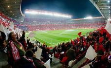 El derbi Sporting-Real Oviedo en El Molinón, en imágenes