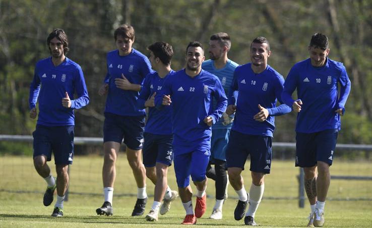Entrenamiento del Real Oviedo del 29 de marzo de 2019