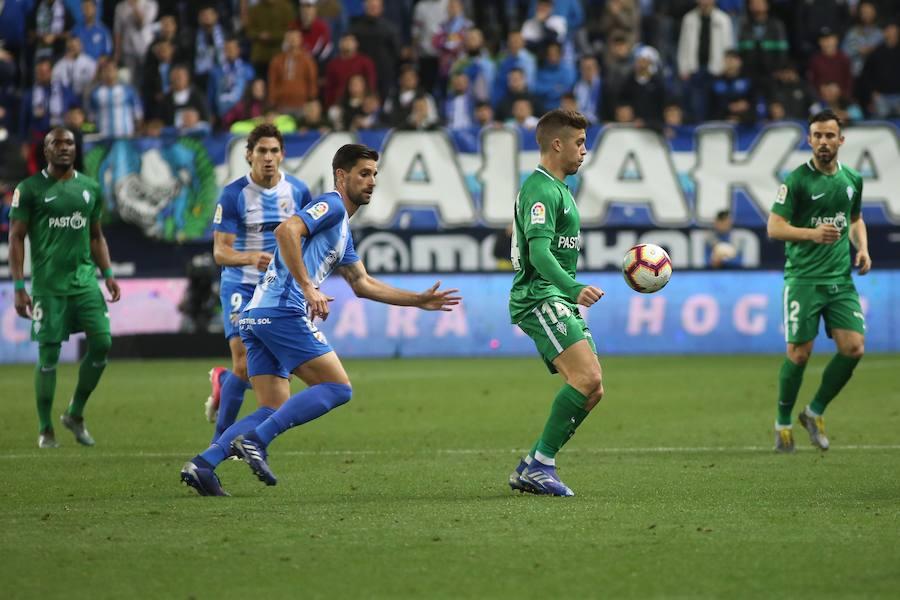 El Málaga - Sporting, en imágenes
