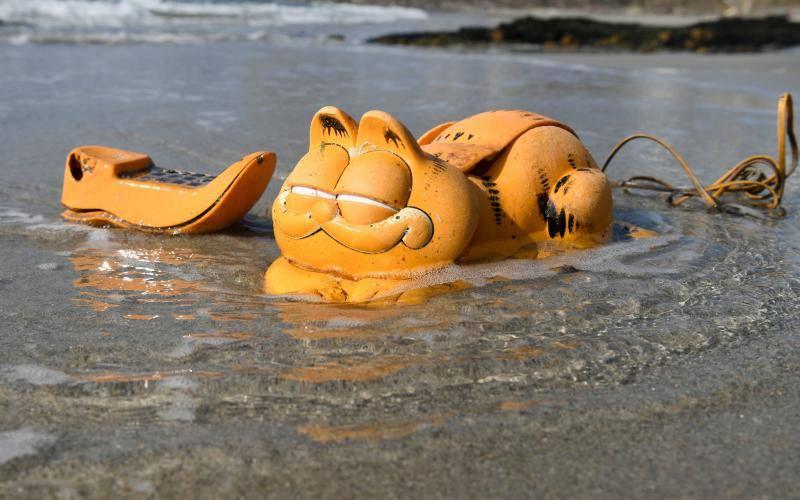 Resuelto el misterio de los Garfield que aparecían en playas francesas