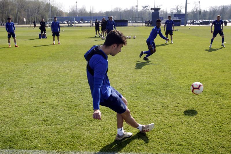 Entrenamiento del Real Oviedo (30/03/19)
