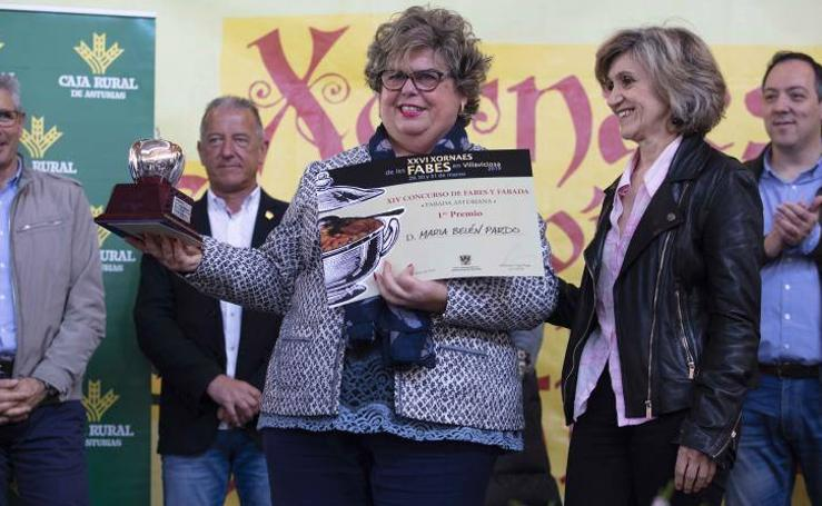 Belén Pardo, ganadora del Concurso Regional de Fabada para Aficionados