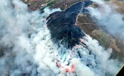 Estabilizado el incendio declarado en Colobredo, Allande