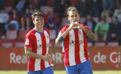 El Sporting B vence al Langreo y se reconcilia con Mareo (2-0)