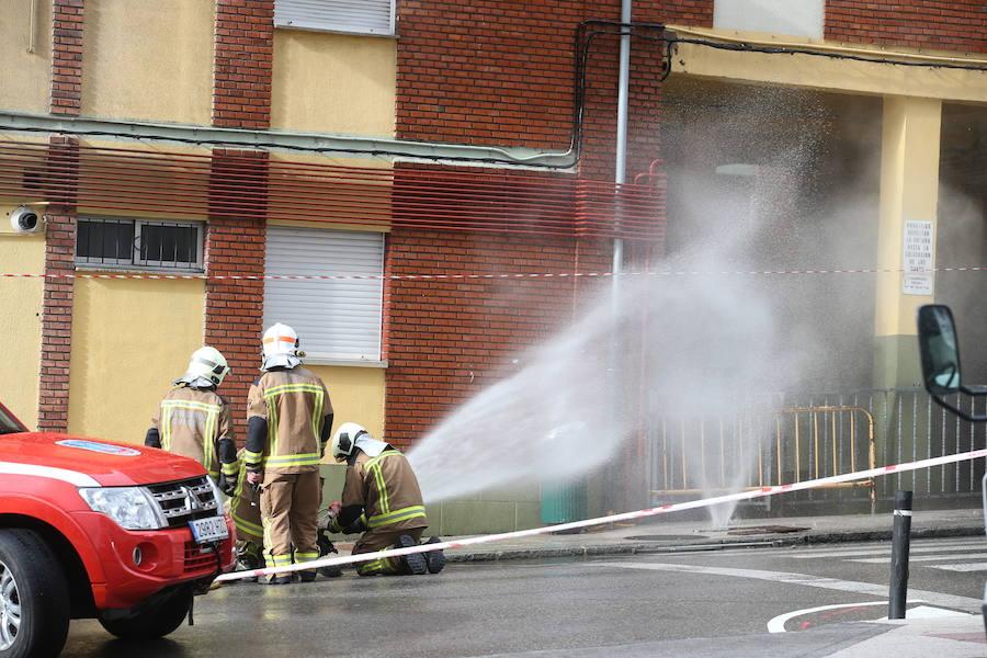 Fuga de gas en Oviedo, en Ciudad Naranco