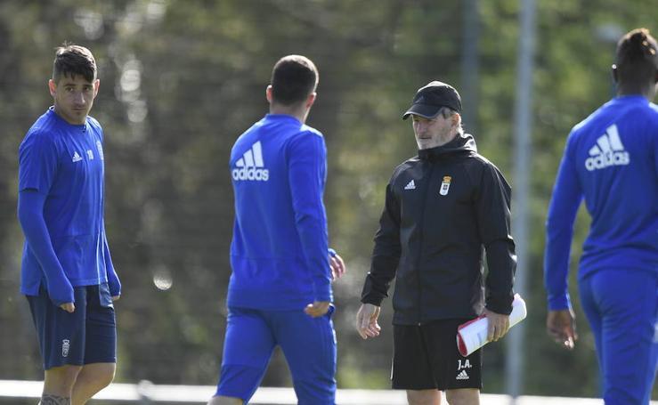Entrenamiento del Real Oviedo del 4 de abril de 2019