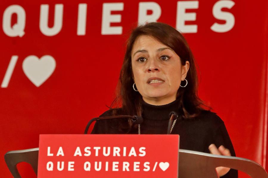 Adriana Lastra defiende el papel de la mujer en Gijón