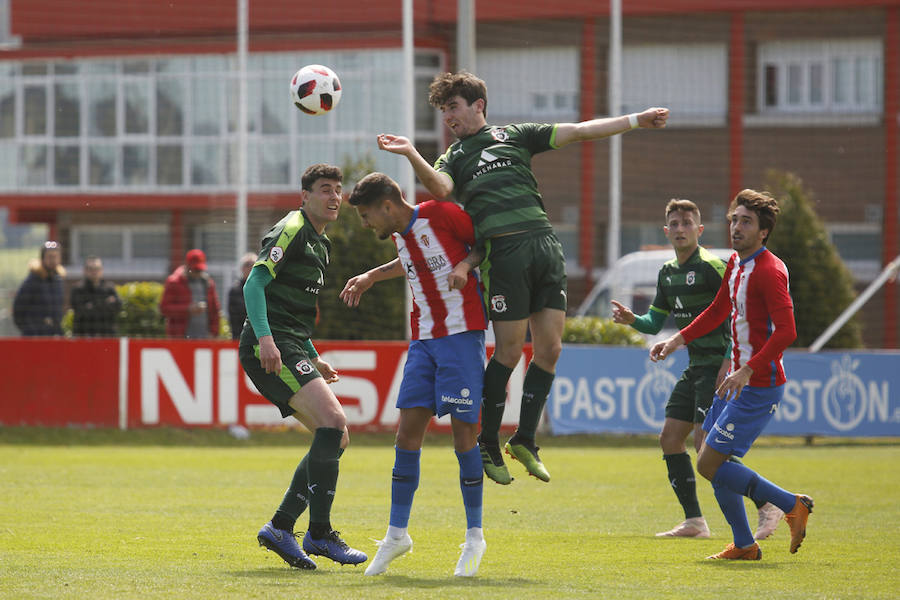 Sporting B 3 - 2 Vitoria, en imágenes