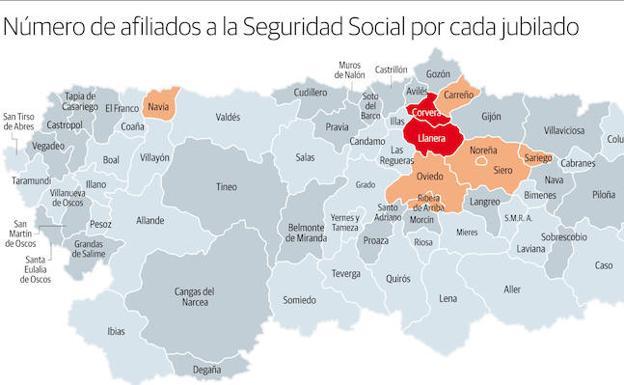 El 42 De Los Municipios Del Principado Cuenta Con Mas Jubilados