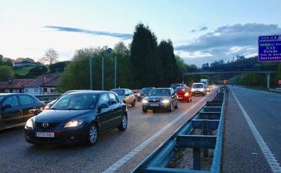 Tormentas de granizo causan el caos en las carreteras y un argayo en la autovía minera