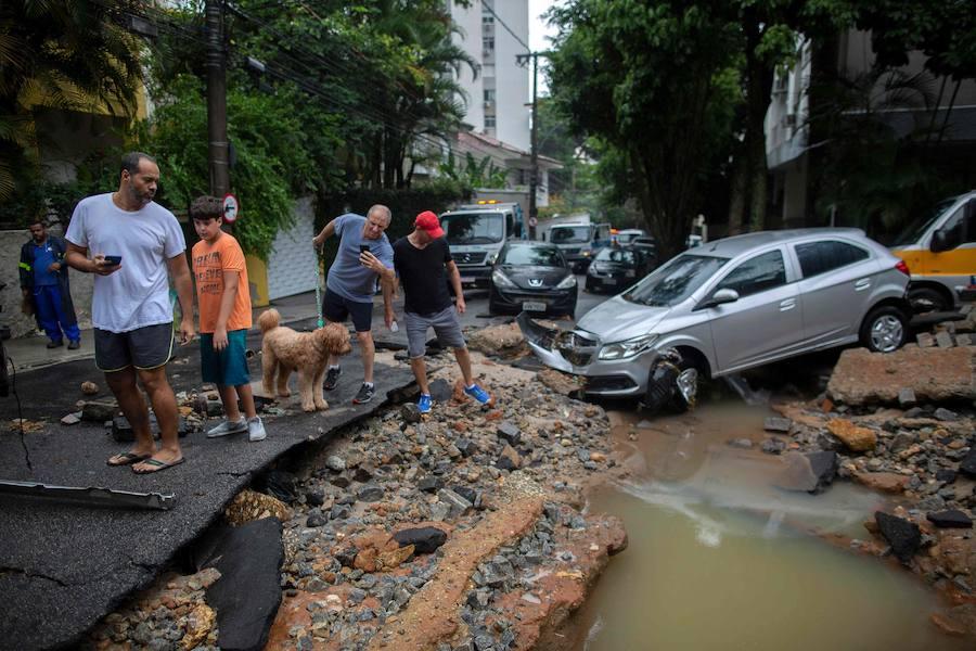 Las inundaciones en Río de Janeiro, en imágenes