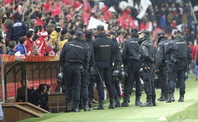 Dos multas de tres mil euros, sanciones del derbi asturiano