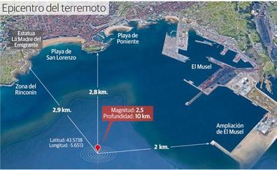 El terremoto registrado en la bahía en Gijón, el primero en más de una década