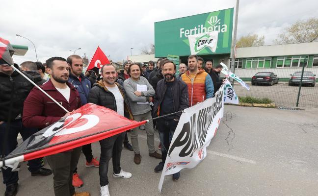 Fertiberia vive su primera jornada de huelga después de veinticuatro años