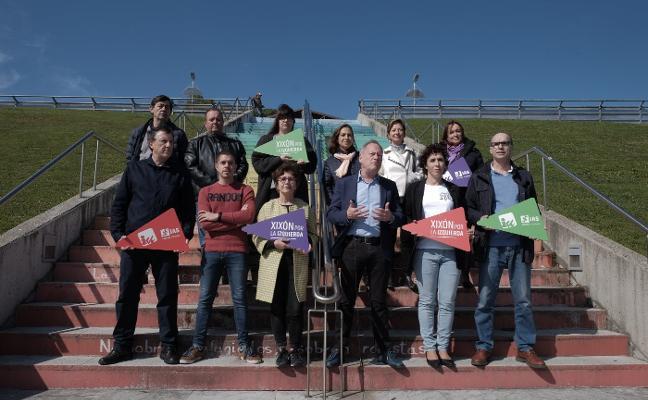 IU e Izquierda Asturiana acudirán a las municipales como Xixón por la Izquierda