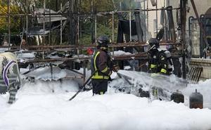 Extinguido el fuego que arrasó una churrería en Vegadeo