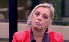 Carmen Borrego, en reposo por un tartazo