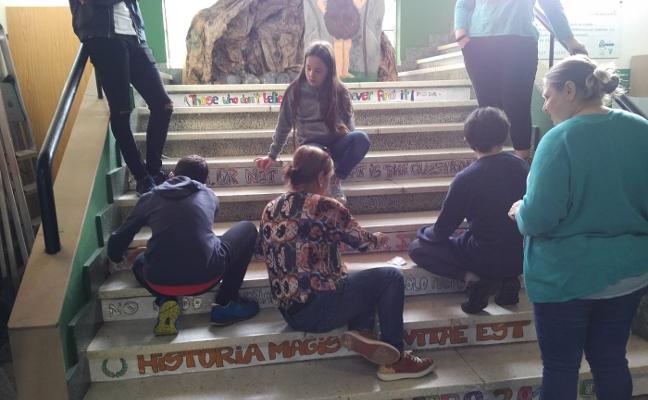Escalones literarios en el instituto de Infiesto