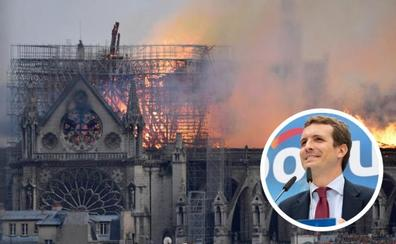 Casado y el símil de Notre Dame: «¡Evitemos que arda la prosperidad!»