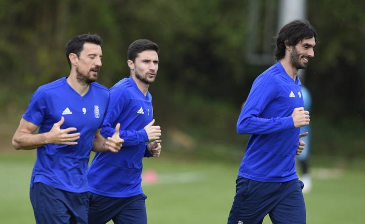 Entenamiento del Real Oviedo del 17 de abril de 2019