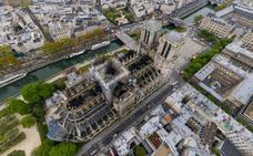 La imagen en 360º de Notre Dame tras el incendio