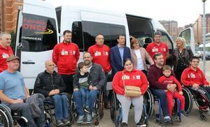 El Garmat sustituye la furgoneta accidentada en el Huerna por una cedida por la ONCE