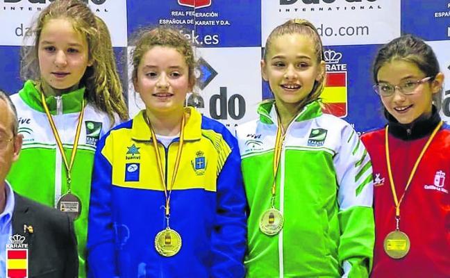 Nueve medallas asturianas en el nacional alevín, infantil y juvenil